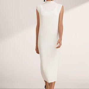 Aritzia | Babaton TJ BLACK Pleated Midi Dress NWT